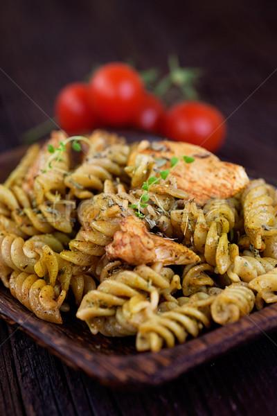 Fusilli pasta pesto Stock photo © mythja
