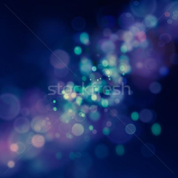 ぼけ味 青 クリスマス エレガントな 抽象的な ストックフォト © mythja