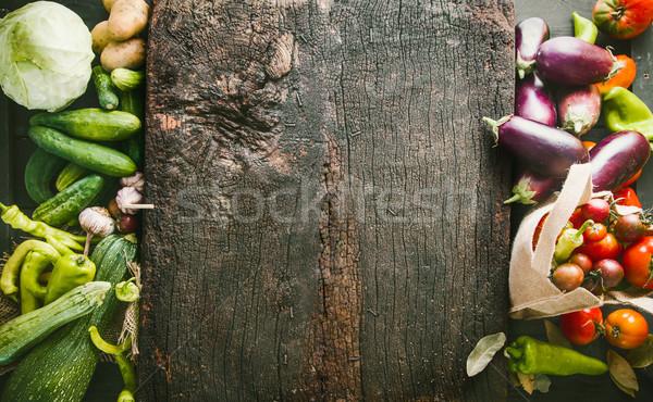 Foto stock: Legumes · frescos · quadro · comida · traçado · legumes · variedade