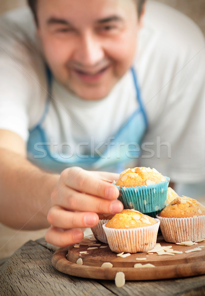 Delicious muffins Stock photo © mythja