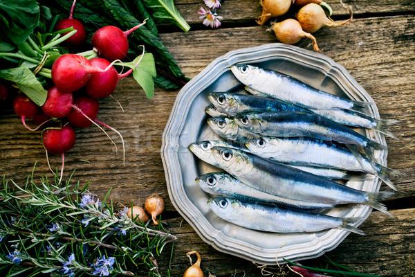 Fresh sardines Stock photo © mythja