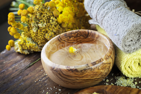 Natural yellow spa setting Stock photo © mythja