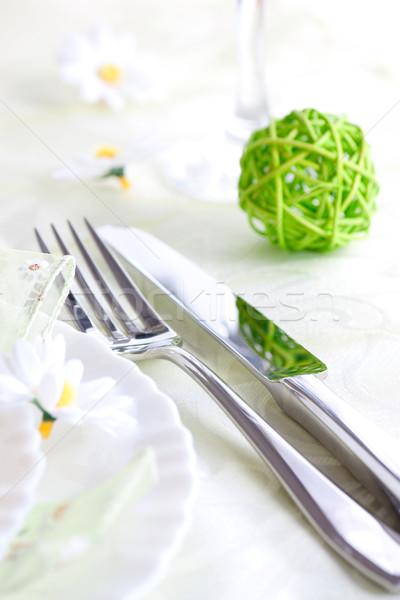 Spring table setting Stock photo © mythja
