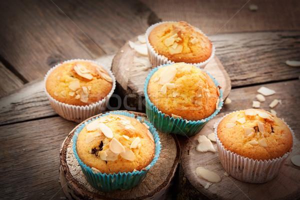Heerlijk muffins organisch amandel kers beker Stockfoto © mythja
