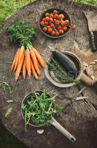 Foto stock: Legumes · jardim · fresco · orgânico · comida · alimentação · saudável