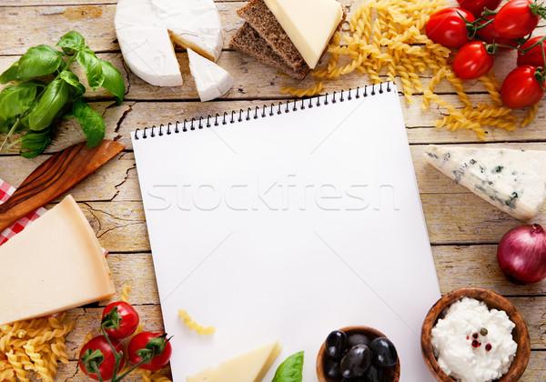 итальянский приготовления свежие Ингредиенты пасты итальянская кухня Сток-фото © mythja
