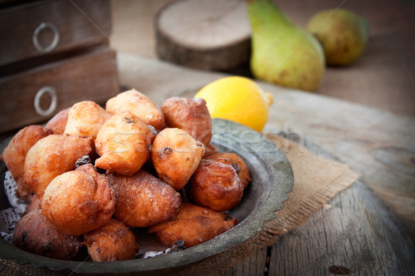 Deep fried fritters donuts Stock photo © mythja