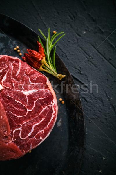 Greggio carne bistecca nero erbe alimentare Foto d'archivio © mythja