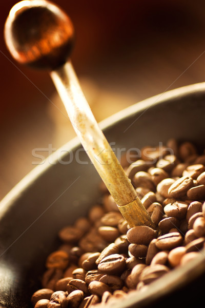 Coffee beans in the grinder Stock photo © mythja