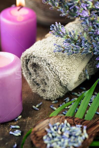 Lavanda estância termal bem-estar produtos água natureza Foto stock © mythja