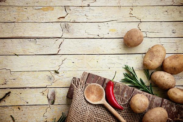 Frescos orgánico hortalizas alimentos alimentos saludables hoja Foto stock © mythja