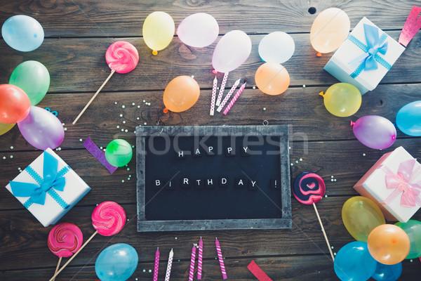 Birthday greeting card Stock photo © mythja