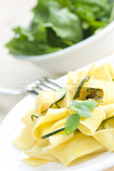 вегетарианский пасты тальятелле чеснока оливкового масла вино Сток-фото © mythja