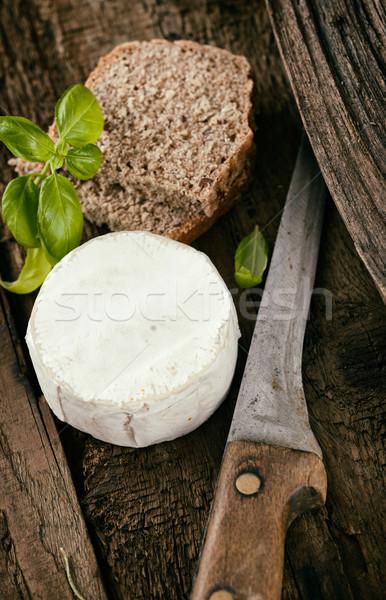 Stockfoto: Italiaans · koken · vers · kaas · hout · achtergrond