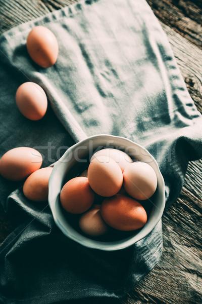 卵 木材 オーガニック 新鮮な 食品 卵 ストックフォト © mythja