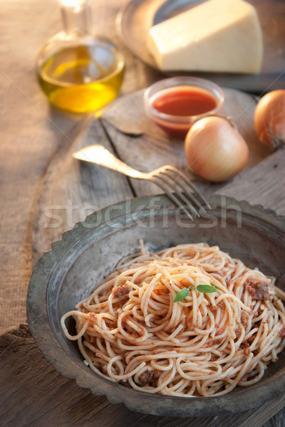 Spaghetti bolognese Stock photo © mythja