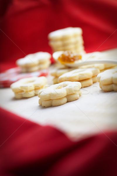 Stock fotó: Vaj · sütik · karácsony · lekvár · cukor · csillag