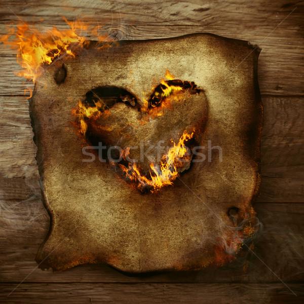 Burning heart Stock photo © mythja