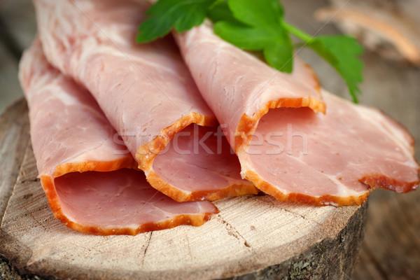 Vers ham varkensvlees garnering houten Pasen Stockfoto © mythja