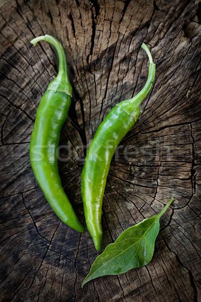 Fresh chilies Stock photo © mythja