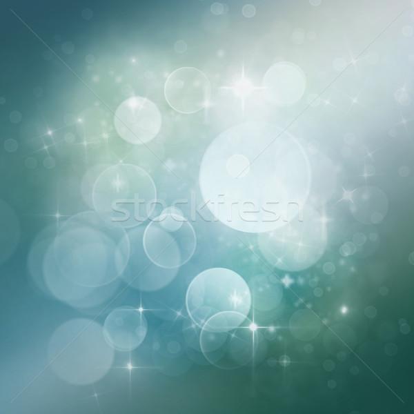 Feestelijk bokeh licht ontwerp ruimte sterren Stockfoto © mythja