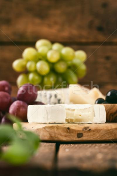 Olasz főzés sajt friss hozzávalók fa Stock fotó © mythja