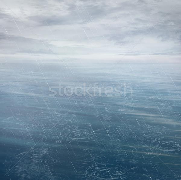 Waves in motion blur. Stock photo © mythja