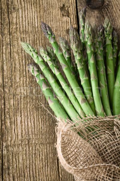 свежие спаржа органический овощей древесины свежих продуктов Сток-фото © mythja