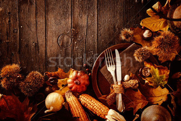 Thanksgiving dinner Stock photo © mythja