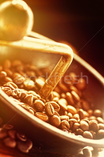 Coffe beans in the grinder Stock photo © mythja
