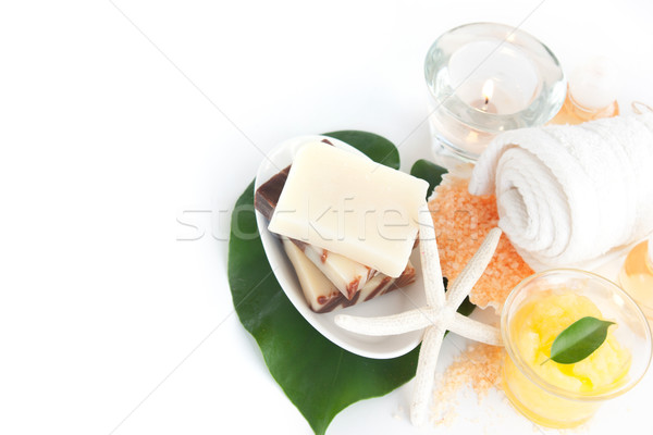 Spa setting with beauty products Stock photo © mythja