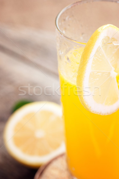 Meyve suyu cam sağlıklı turuncu limon meyve suyu Stok fotoğraf © mythja