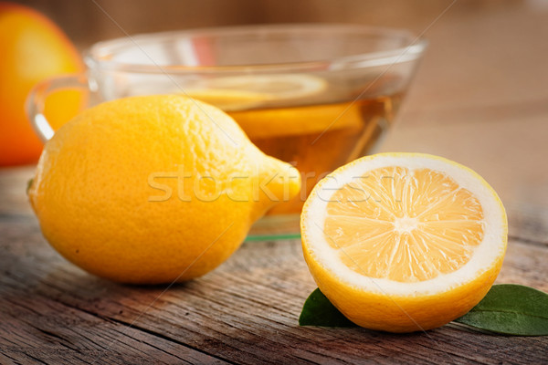 Stock photo: Lemon fruit tea