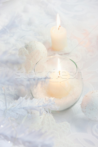 Christmas table setting Stock photo © mythja