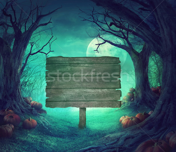 Photo stock: Halloween · design · forêt · morts · arbres