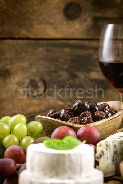 Italiano cozinhar queijo fresco ingredientes madeira Foto stock © mythja