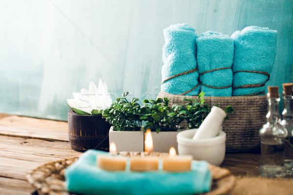 Spa setting in blue Stock photo © mythja