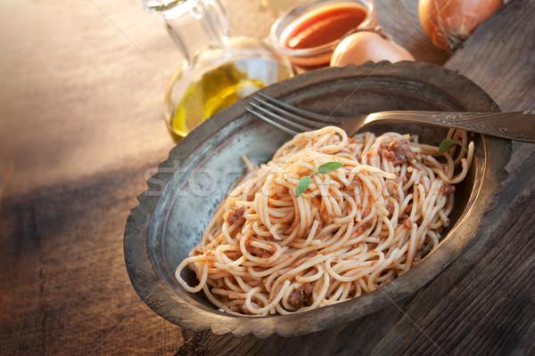 Spaghetti bolognese Stock photo © mythja