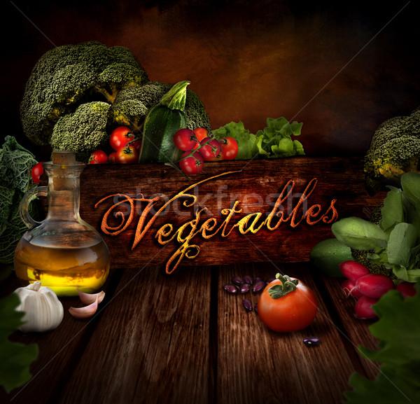 Сток-фото: продовольствие · дизайна · свежие · овощи · оливкового · масла · бобов