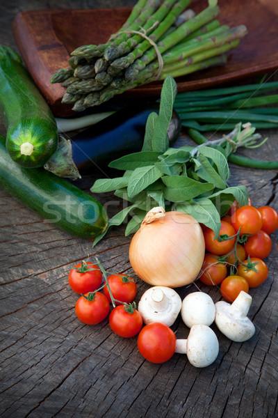 Fraîches jardin produire saine légumes frais ingrédients Photo stock © mythja