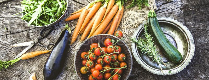 Stockfoto: Groenten · vers · organisch · voedsel · gezonde · voeding · natuur