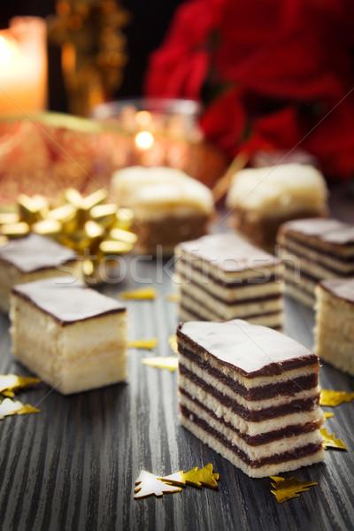 ストックフォト: ケーキ · ピース · チョコレート · バニラ