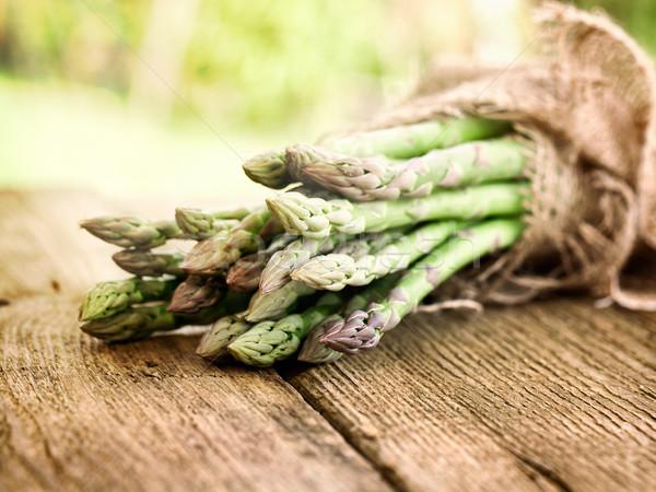 新鮮な アスパラガス オーガニック 野菜 木材 生鮮食品 ストックフォト © mythja