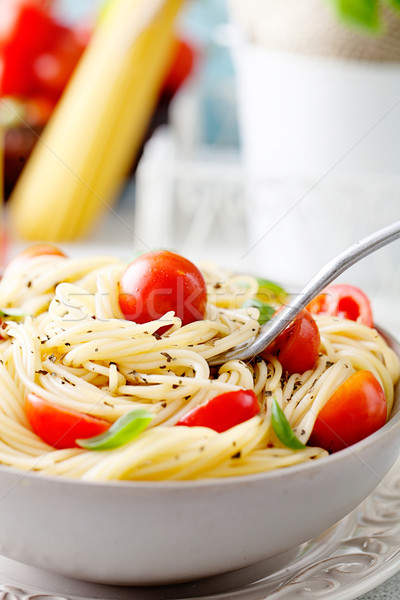 Stock photo: Pasta with olive oil