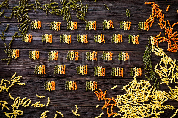 Pasta italian flag Stock photo © mythja