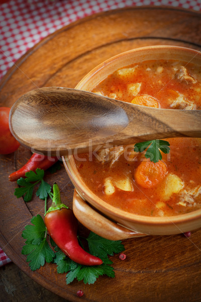 Veal stew Stock photo © mythja