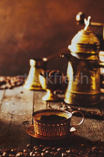 кофе кофейные чашки сахар Vintage растворимый кофе продовольствие Сток-фото © mythja