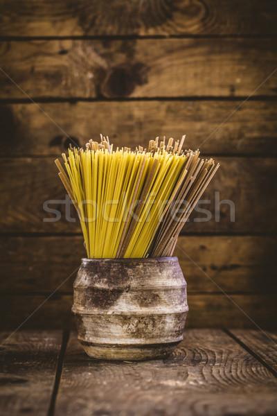 Pasta with ingredients Stock photo © mythja