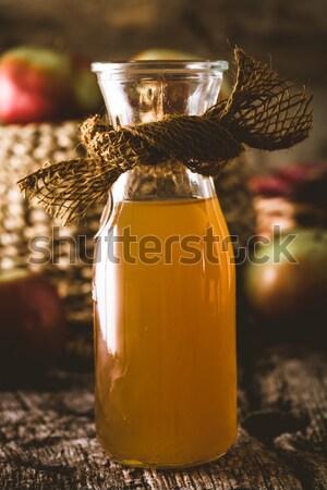Manzana vinagre madera botella orgánico Foto stock © mythja