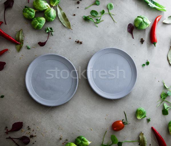 新鮮な野菜 フレーム 食品 レイアウト 野菜 ストックフォト © mythja